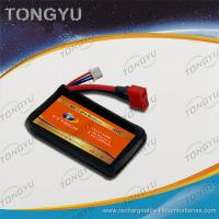 Quality 40C Discharge Rate Airplanes Lithium Polymer Battery Pack 7.4V 1300mAh for sale