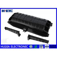 Buy Horizontal Fiber Optic Splice Closure , Outdoor Fiber Enclosure Black Color at wholesale prices