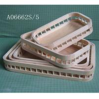 Quality Solid Pine wooden trays sets, small to large 5 of a set for sale