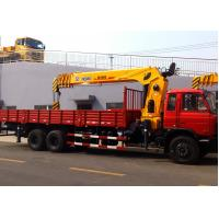Quality 14 Ton Telescopic Boom Truck Crane Driven By Hydraulic , 35 T.M for sale