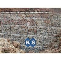Quality Hexagonal Wire Mesh Gabion Retaining Wall with Polyethylene PE Coated Gabion Wire for sale