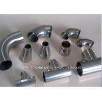 Quality Polished Stainless Steel Elbow Fitting / 316L Stainless Tube Fittings For Chemical for sale
