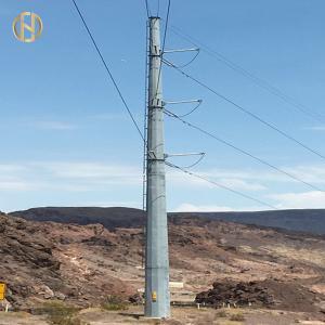 Quality Galvanized Metal Power Pole NEA 105FT 110FT 30M 32M 138KV 132KV for sale