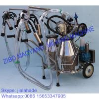 Buy For EU market,Vacuum Pump Typed Double Buckets Mobile Milking Machine,good price portable milking machine for farms at wholesale prices