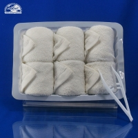 Quality Hot refresh White Disposable gift airline face towels for aircraft for sale
