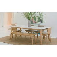Quality Modern Fresh Style Walnut Dining Table And 6 Chairs With Solid American White Oak for sale