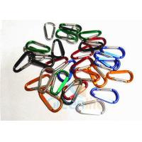 Quality Colored Beauty D Shape Snap Hook Carabiner 5CM Standard Electronic Plating for sale