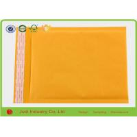China Gold Yellow 8  X 11 Inch Open End Bubble Pouch Bags , Different Size Kraft Mailing Bags on sale