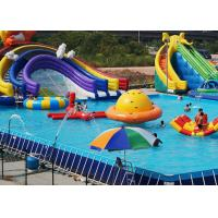Quality Customized PVC steel Rectangular Ultra Metal Frame Pool for Water Park for sale