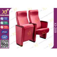 Quality Red Acrylic Fabric Public Space Church Install Conference Room Chairs With Long Warranty for sale