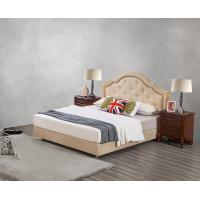 Buy Leather / Fabric Upholstered Headboard Bed for Hotel Bedroom interior Furniture at wholesale prices