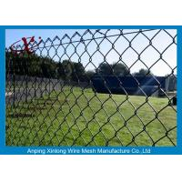 Quality Dark Green Chain Link Fence Applied Private Grounds / Transit / Road for sale