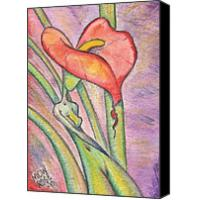 Quality lily flower painting interior wall picture for sale
