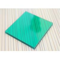 Quality Unbreakable Polycarbonate Panel Green Color For Underground Garage Exit for sale