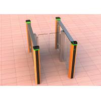 China Fast Speed Stainless Steel Swing Turnstile Gate Lane Glass Gate For Access Control System on sale
