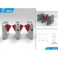 Quality IC / ID / Bluetooth Card Turnstile Security Systems , Intelligent Control Half Height Turnstile for sale