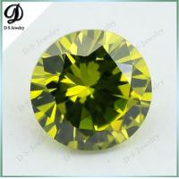Loose Peridot synthetic stone/synthetic peridot gemstone for sale