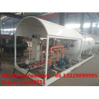 Quality 2017S customized 8m3 4tons mobile skid lpg tank for sale,cheapest price skid lpg tank plant with single digital scale for sale