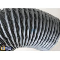 Quality PVC Coated Fiberglass Fabric Grey Flexible Ventilation Air Ducting Vent Hose for sale