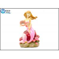 Buy Pink Color Mermaid Aquarium Tank Decorations With Polyester Resin Material at wholesale prices