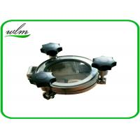 Buy Sight Glass Stainless Steel Manhole Cover High Pressure Elliptical Shaped at wholesale prices