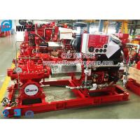 Buy cheap Horizontal Split Case Fire Pump Set With Diesel Engine , FM Approval from wholesalers