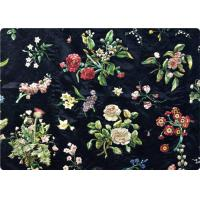Quality Black Embroidered Curtain / Bags / Bedding Fabric Vintage Upholstery Fabric for sale