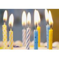 Buy Simple Spiral Striped Birthday Candles With Colorful Dots No Harmful Tearless at wholesale prices