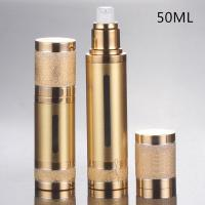 Quality empty 30ml 50ml vacuum cosmetic aluminum airless Pump Bottles for sale