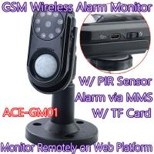 Quality Home Intelligent GSM Wireless Photo MMS Alarm Camera Monitor W/ PIR Theft Burglar Detect for sale