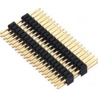 Quality 1.27mm Pin Header Connector Dual Row Double Plastic PA9T Black Pcb Pin Connector for sale