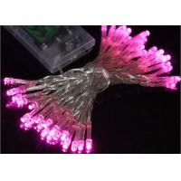 Quality Waterproof Battery Operated Christmas String Lights 4.5 Volt Multicolor / Pink for sale