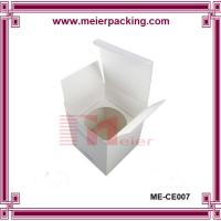 Quality White paper board candle box/Custom cube candle paper box with paper insert ME-CE007 for sale