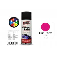Quality 0.3 Pressure Inside Rubber Based Spray Paint Fluo Rose Color With SGS Certificate for sale