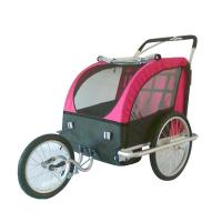 Quality 2-in-1 canopy includes bug screen and weather shield water proof Double Bike Trailers for sale