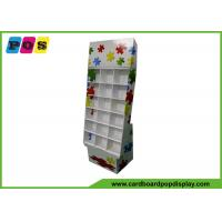Quality POP Corrugated Cardboard Store Display With Cells For Puzzle Games Promotion FL147 for sale