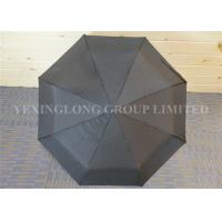 Quality Classic Black Automatic Open Close Windproof Umbrella For Rain And Wind for sale