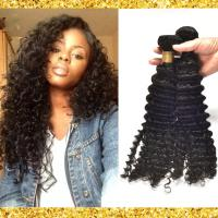 Buy Black Deep Curly Grade 8A Virgin Hair Weave No Nits And No Terrible Smell at wholesale prices