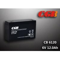 Quality CB6120 charging high capacity AGM Lead Acid Battery 6V 12AH Anti Erosion Alarm System for sale