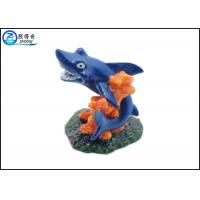 Quality Blue Dolphin Aquarium Fish Tank Decorations With Polyresin Corals Ornaments for sale