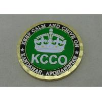 Quality 2.0 Inch KCCO custom military coins By Brass Die Struck And Gold Plating for sale