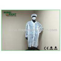 Buy OEM Breathable Disposable Lab Coats with Hook / Loop Closure at wholesale prices