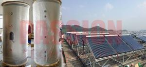 Quality Split Pressurized Solar Water Heater Heat Pipe Collector For Large Capacity Solar Water Heating System For Hotel Resort for sale