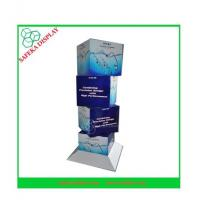 Quality 350g CCNB + K5 Corrugated cardboard Material cube cardboard display stands for sale
