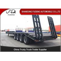 China Four Axles Steel Material Lowboy Tractor TrailerPayload 100 / 120 Tons on sale