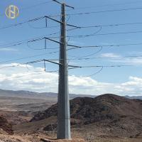 Quality Self Supporting Metal Power Pole 32m 0-30 Degree Dodecagon 166KV Transmission Line for sale