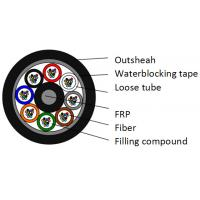 Quality 96 Core Air Blown Fiber Optic Cable For Duct Use Small Diameter PE Anti Rodent Jacket for sale