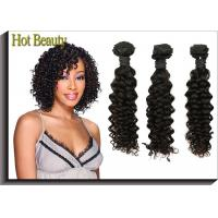 China 32 Inch AAAAA Virgin Malaysian Curly Hair Weave , Long Hair Extensions on sale