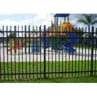 Quality Decorative Spear Top Security Zinc Steel Fencing , Metal Three Rails for sale