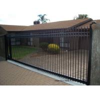 Quality Countryard Driveway Sliding Gate 1.8m*2.4m , Black Powder Coated Finished for sale